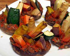 Vegetable Stuffed Mushrooms With Coconut Chia Carrot Sauce | Urban Paleo Chef