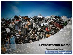 Solid Waste Disposal design template. This Solid Waste Disposal ppt template can be associated with #Contaminate #Environment #Rubbish #SolidWaste etc.