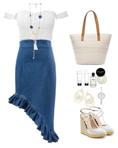 """""""summer look"""" by igeuwrwgghzu ❤ liked on Polyvore featuring Fendi, Chico's, Bobbi Brown Cosmetics, Ippolita and DKNY"""