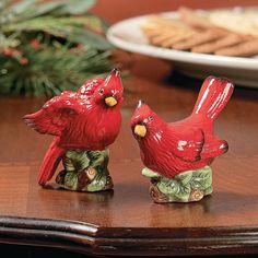Cardinal Salt & Pepper Shakers - TerrysVillage.com