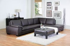 Brown leather sofa sectional with chaise | Affordable Modern Furniture in Chicago : leather sectional chicago - Sectionals, Sofas & Couches