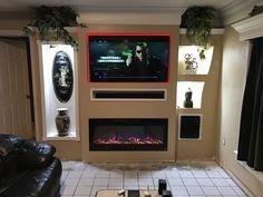Fireplace Tv Wall, Flat Screen, The Unit, Home Decor, Blood Plasma, Decoration Home, Room Decor, Flatscreen, Home Interior Design