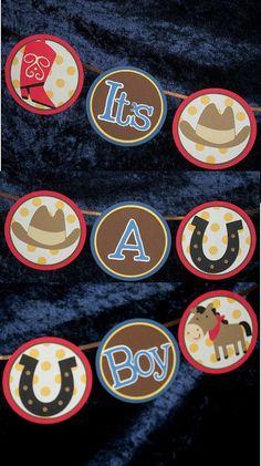 Cowboy It's A Boy Baby Shower Banner READY TO by APaperPlayground, $18.50