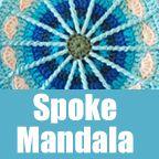 free crochet pattern: spoke mandala - a creative being