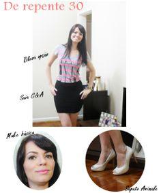 Blog Thati Maforte Tudo para Maquiagem: De repente 30 / Look + Make
