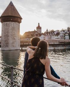 It was such a GREAT photographing those 2 love birds! They were so easy going and :D Watching the perfect sunset together… Lucerne, Love Birds, Backless, Photoshoot, Sunset, Easy, Fun, Dresses, Fashion