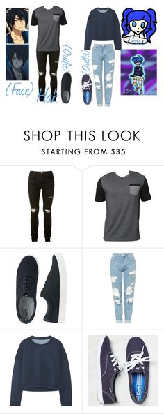 """""""reference for @xenomorphs4life"""" by chibiblue ❤ liked on Polyvore featuring AMIRI, Billabong, Uniqlo, Topshop, TIBI and Keds"""