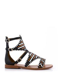 Sandale Plate SAKURA Noir - Sandales plates - CHAUSSURES FEMME - FEMME