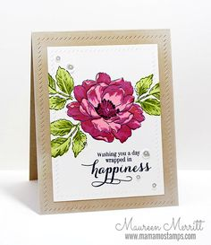 Beautiful Day: Altenew, flower sketch, Mama Mo Stamps