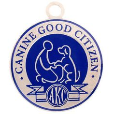 Love this product from dogIDs.com!   Color Filled AKC Canine Good Citizen Achievement Tag