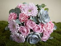 baby pink roses with succulents Green Flowers, Pink Roses, Pink And Green, Flower Arrangements, Succulents, Create, Plants, Baby, Floral Arrangements