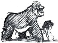 Tarzan Concept Sketch By Glen Keane