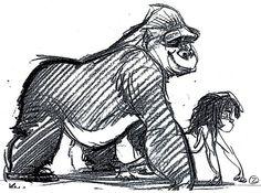 Tarzan Concept Sketch By Glen Keane