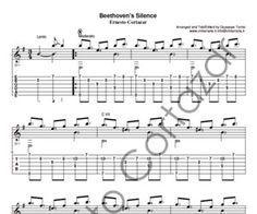 Beethoven's Silence GUITAR Sheet Music - Ernesto Cortazar