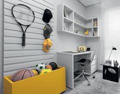 Da cama à bancada de estudo, o estilo do adolescente deve estar presente em toda a decoração do cômodo