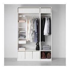 IKEA - PAX, Armoire-penderie, 150x58x236 cm, , Garantie 10 ans gratuite. Détails des conditions disponibles en magasin ou sur internet.Vous pouvez facilement adapter cette combinaison standard PAX/KOMPLEMENT à vos besoins et selon votre goût à l'aide de l'outil de planification PAX.Pour organiser l'intérieur de vos rangements vous pouvez utiliser les aménagements intérieurs KOMPLEMENT.Les pieds réglables permettent de compenser les irrégularités du sol.