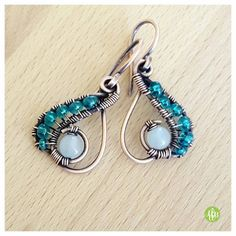 Hey, I found this really awesome Etsy listing at https://www.etsy.com/listing/281822400/copper-opalite-earrings-wire-jewelry