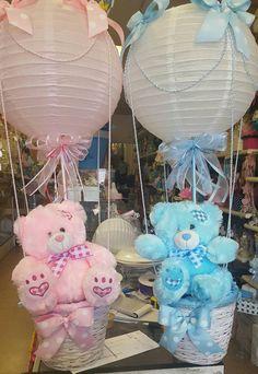 Hot Air Balloon Baby Bear Centerpieces with Lantern, baby shower centerpieces, room decor Baby Shower Decorations For Boys, Baby Shower Centerpieces, Baby Shower Favors, Baby Shower Parties, Baby Shower Themes, Baby Shower Invitations, Baby Shower Gifts, Shower Ideas, Centerpiece Ideas