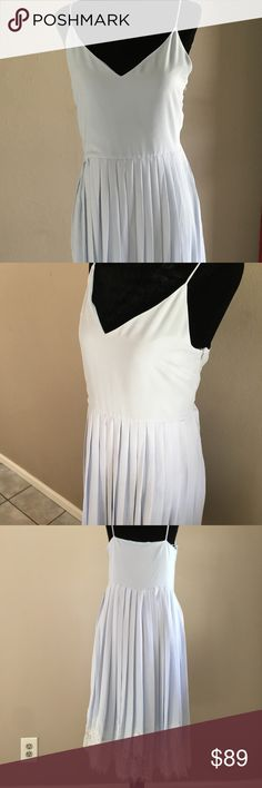 NWT Sleeveless Light Blue Pleated Dress with Lace Lovely Light blue Sleeveless Pleated Dress with lace detail at the bottom. Size-Medium Retail-$160 English Factory Dresses