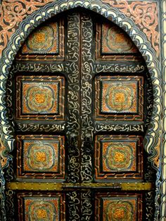 """( Moroccan Doors  :: Bab Alkadi )   """"In the universe, there are things that are known, and things that are unknown, and in between, there are doors.""""  ― William Blake"""