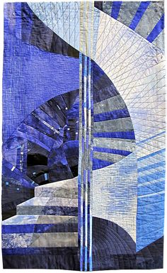 Jirickna's Spiral by Kate Findlay. 2015 Contemporary Quilt at Festival of Quilts