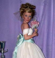 "porcelain bridal dolls | ... Doll ""Summer Dream"" She Walks in Beauty Porcelain Bride COA | eBay"