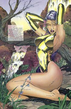 Original Comic Art titled Psylocke by Jim Lee, located in D.'s Lee, Jim Comic Art Gallery Comic Book Girl, Comic Book Artists, Comic Book Characters, Comic Artist, Comic Character, Comic Books Art, Marvel Girls, Comics Girls, Marvel Dc