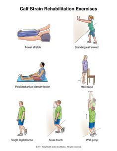 calf strain rehab exercises