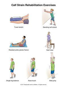 calf strain rehab exercises