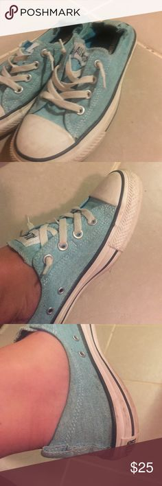 Converse slip ons Light blue size 9.5 Converse Shoes Sneakers