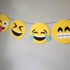 Emoji Banner Style #2 // emojis, crying laughing, sunglasses, kawaii, iOS, hipster, photo booth, dorm decor