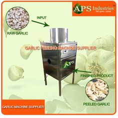 An automatic  peeling operation.Energy saving unit.High production efficient. Automatic temperature control and in feed device.Easy to operate and working with an air compressor.Can peel different size of garlic, clove and membrane separated. Cloves are not damaged and will have long preservation for garlic.Production output according to various parameters like breed, season and nature of garlic. Capacity: 50 kg per hour/ 100 kg per hour/ 150 kg per hour Note: More capacity is available.