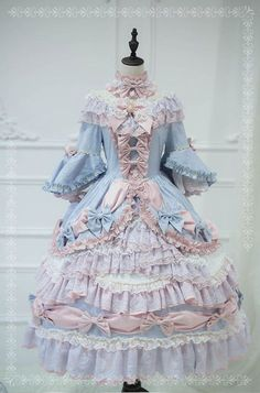 ZJ Story -The Whisper of Versailles- Vintage Classic Lolita OP Dress (Non-removable Underskirt Version)