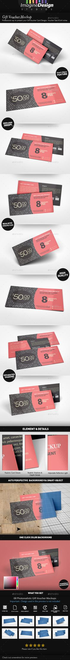 Gift Voucher Mockup — Photoshop PSD #promotional #discount coupon • Available here → https://graphicriver.net/item/gift-voucher-mockup/16130812?ref=pxcr