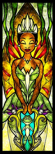 """""""Almost There"""" Tiana Stained Glass Art"""