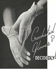 Lacy Bridal Gloves - Vintage Crochet Pattern/INSTRUCTIONS