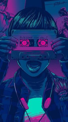 Pop Art Music Illustration 59 New Ideas Musik Wallpaper, Retro Wallpaper Iphone, Pop Art Wallpaper, Iphone Wallpaper Tumblr Aesthetic, Wallpaper Awesome, Arte Lowrider, Musik Illustration, Deku Anime, Cyberpunk Kunst