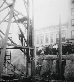 """""""Photographs that show the process of raising the sidewalks in Old Sacramento are displayed for visitors to see on an Old SacramentoUnderground Tour.""""  >>>>There has been a paranormal investigation down below as well, due to some reported incidents."""
