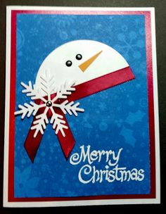 Another great idea from someone on Pinterest!  THANKS!  Snowman, snowflakes, Christmas, Winter