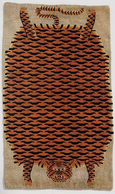tibet, tiger carpet