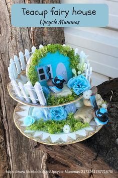 Gorgeous teacup fairy house made for a special person.