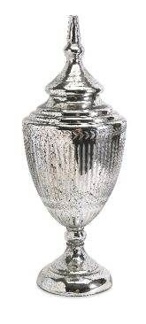 Laurel Mercury Glass Lidded Urn