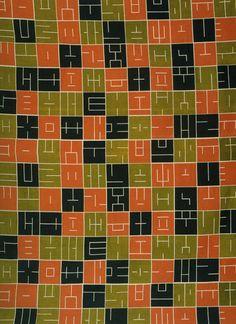 Fabric Design by Alvin Lustig  (1947)