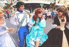 Cinderella from self-titled, Eric and Ariel from The Little Mermaid & Belle from Beauty and the Beast