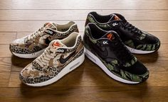 0497d92e42f6 the two Nike Air Max that the brand designed in cooperation with Tokyo  boutique atmos. Next to the snake camo and leopard camo versions of the  iconic Air ...