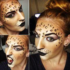 Cheetah Face Paint. #facepaint #facepainting #face #paint #snazaroo #cheetah #facepaintbyzozzie