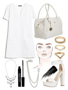 """Simple All White"" by mydailypoly23 ❤ liked on Polyvore featuring Forever 21, MANGO, French Connection, maurices, Lord & Berry and Urban Decay"