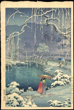 Koitsu, Tsuchiya (1870-1949) - Spring Snow, Kyoto Maruyama - 春の雪 京都円山