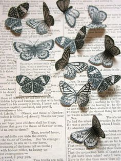 Printing on old books - Butterflies freebie  - Aren't they simply gorgeous? The tutorial is by Denise Sharp