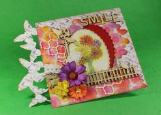 Card created with CraftEmotions Botanical Summer Collection Wooden Ornaments, Summer Crafts, Summer Collection, Cardmaking, Create, Cards, Decor, Decoration, Making Cards